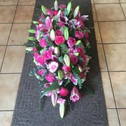 Rouwkistbekleding roze